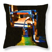 Vintage Barber Chair - 20130119 - V1 Throw Pillow