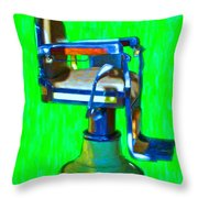 Vintage Barber Chair - 20130119 - V2 Throw Pillow
