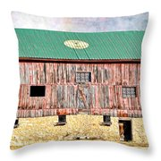 Vintage Barn - Wood And Stone Throw Pillow