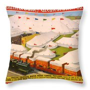 Vintage Barnum And Bailey Poster Throw Pillow