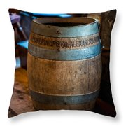 Vintage Barrel Throw Pillow
