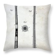 Vintage Baseball Bat Patent Throw Pillow