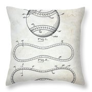 Vintage Baseball Patent Throw Pillow