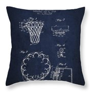 Vintage Basketball Goal Patent From 1936 Throw Pillow by Aged Pixel