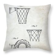 Vintage Basketball Hoop Patent Throw Pillow