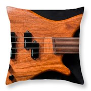 Vintage Bass Guitar Body Throw Pillow