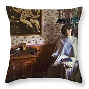 Vintage Beautification Throw Pillow