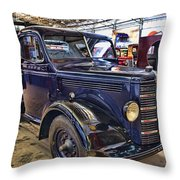 Vintage Bedford  Pickup Truck Throw Pillow by Douglas Barnard