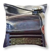 Vintage Bedford Truck Throw Pillow