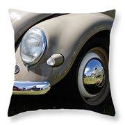 Vintage Beetle Throw Pillow
