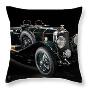 Vintage Bentley 4.5 Liter Le Mans Throw Pillow