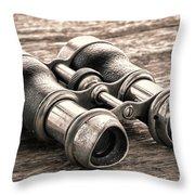 Vintage Binoculars Throw Pillow