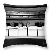 Vintage Black Tunes Throw Pillow