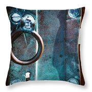 Vintage Boat Door Knob Throw Pillow