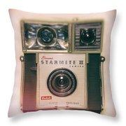 Vintage Brownie Starmite Camera Throw Pillow