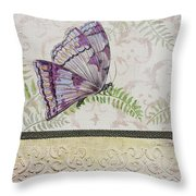 Vintage Butterfly-jp2568 Throw Pillow