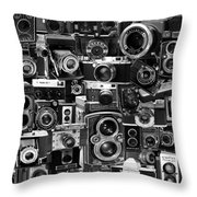Vintage Camera Montage Throw Pillow