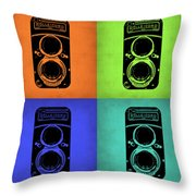 Vintage Camera Pop Art 1 Throw Pillow