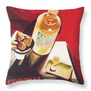 Vintage Campari Throw Pillow
