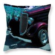 Vintage Ford Car Art II Throw Pillow