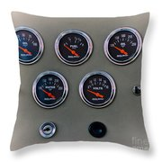 Vintage Car Dashboard Throw Pillow