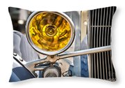 Vintage Car Light Throw Pillow