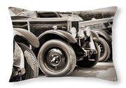 Vintage Cars Throw Pillow