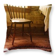 Vintage Chair And Table Throw Pillow