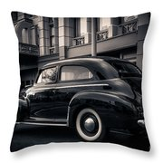 Vintage Chevrolet In 1934 New York City Throw Pillow
