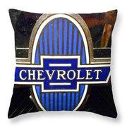 Vintage Chevrolet Logo Throw Pillow