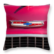 Vintage Chevy Bel Air Throw Pillow