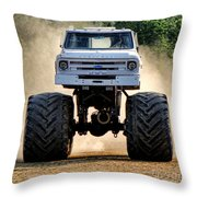 Vintage Chevy Monster  Throw Pillow