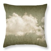 Vintage Clouds Background Throw Pillow