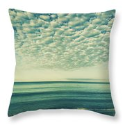 Vintage Clouds Throw Pillow