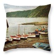 Vintage Clovelly Throw Pillow