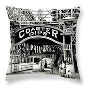 Vintage Coaster Throw Pillow