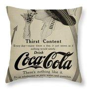 Vintage Coca Cola Ad 1911 Throw Pillow