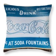 Vintage Coca Cola Ad Throw Pillow