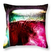Vintage Coca Cola Glass With Ice Throw Pillow by Bob Orsillo