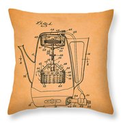 Vintage Coffee Maker Patent 1958 Throw Pillow