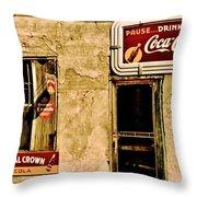 Vintage Colas Throw Pillow