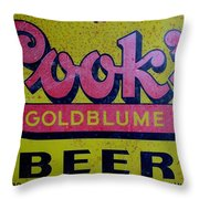 Vintage Cooks Goldblume Beer Sign Throw Pillow