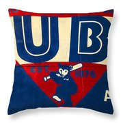 Vintage Cubs Spring Training Sign Throw Pillow