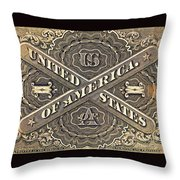 Vintage Currency  Throw Pillow by Chris Berry