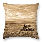 Vintage Days Gone By Throw Pillow