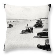 Vintage Daytona Beach Florida Throw Pillow