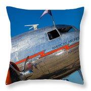 Vintage Dc-3 Airplane Throw Pillow
