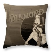 Vintage Diamon Lil B-24 Bomber Aircraft Throw Pillow