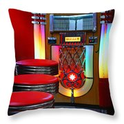 Vintage Diner Throw Pillow