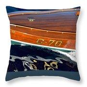Rainbow 3 Vintage Ditchburn Racer Throw Pillow